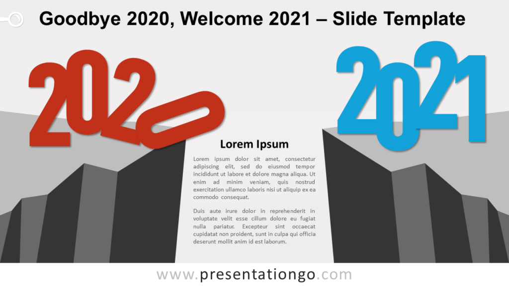 Free Goodbye 2020, Welcome 2021 for PowerPoint and Google Slides