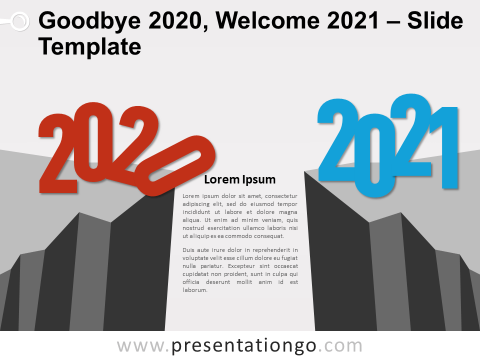 Free Goodbye 2020, Welcome 2021 for PowerPoint