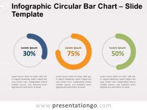 Free Infographic Circular Bar Chart for PowerPoint