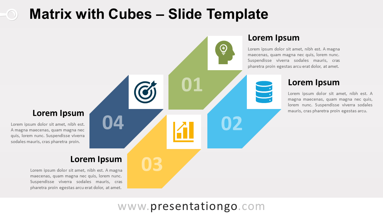 Free Matrix Cubes for PowerPoint and Google Slides