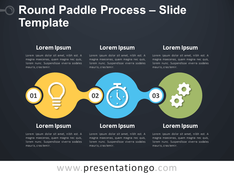 Free Round Paddle Process Diagram for PowerPoint