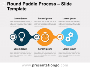 Free Round Paddle Process for PowerPoint