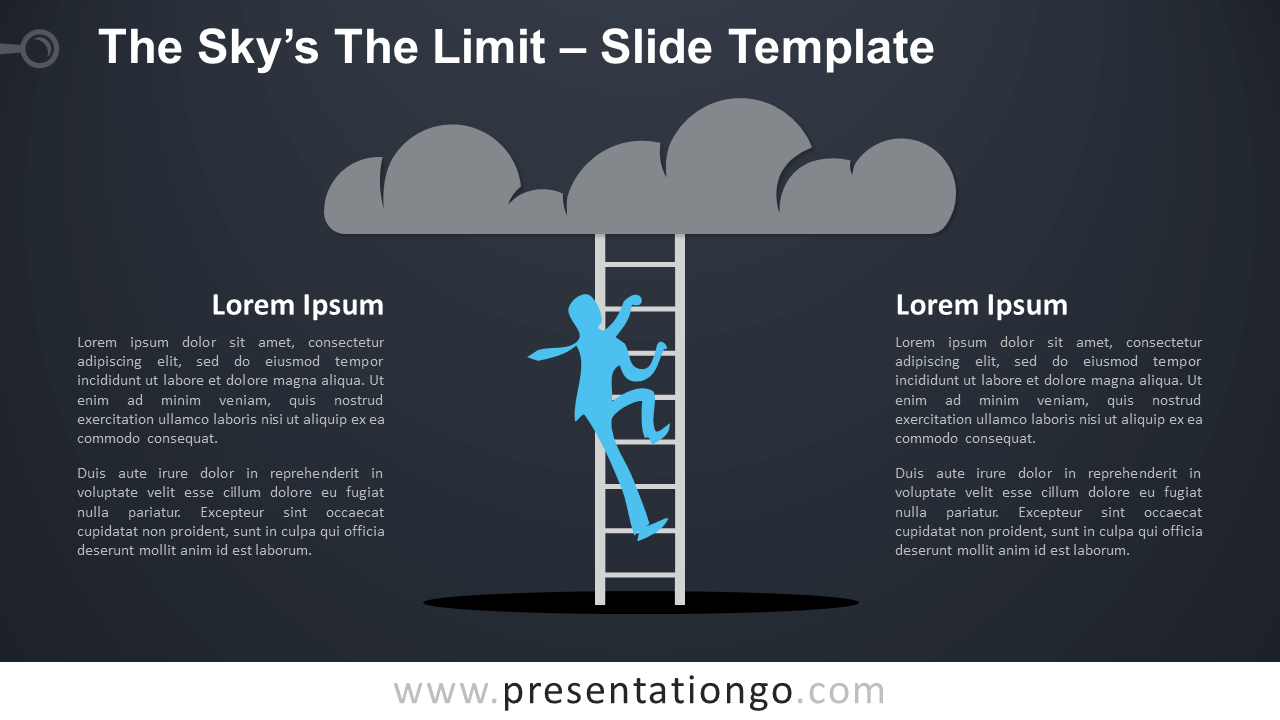 """Free Sky""""s The Limit Infographic for PowerPoint and Google Slides"""