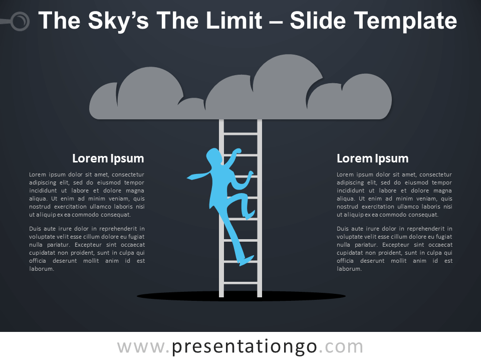 """Free Sky""""s The Limit Infographic for PowerPoint"""