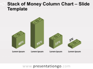 Free Stack Money Column Chart for PowerPoint