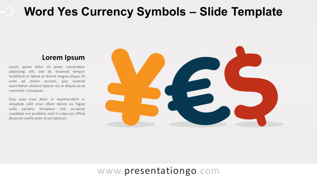 Free Word Yes Currency Symbols for PowerPoint and Google Slides