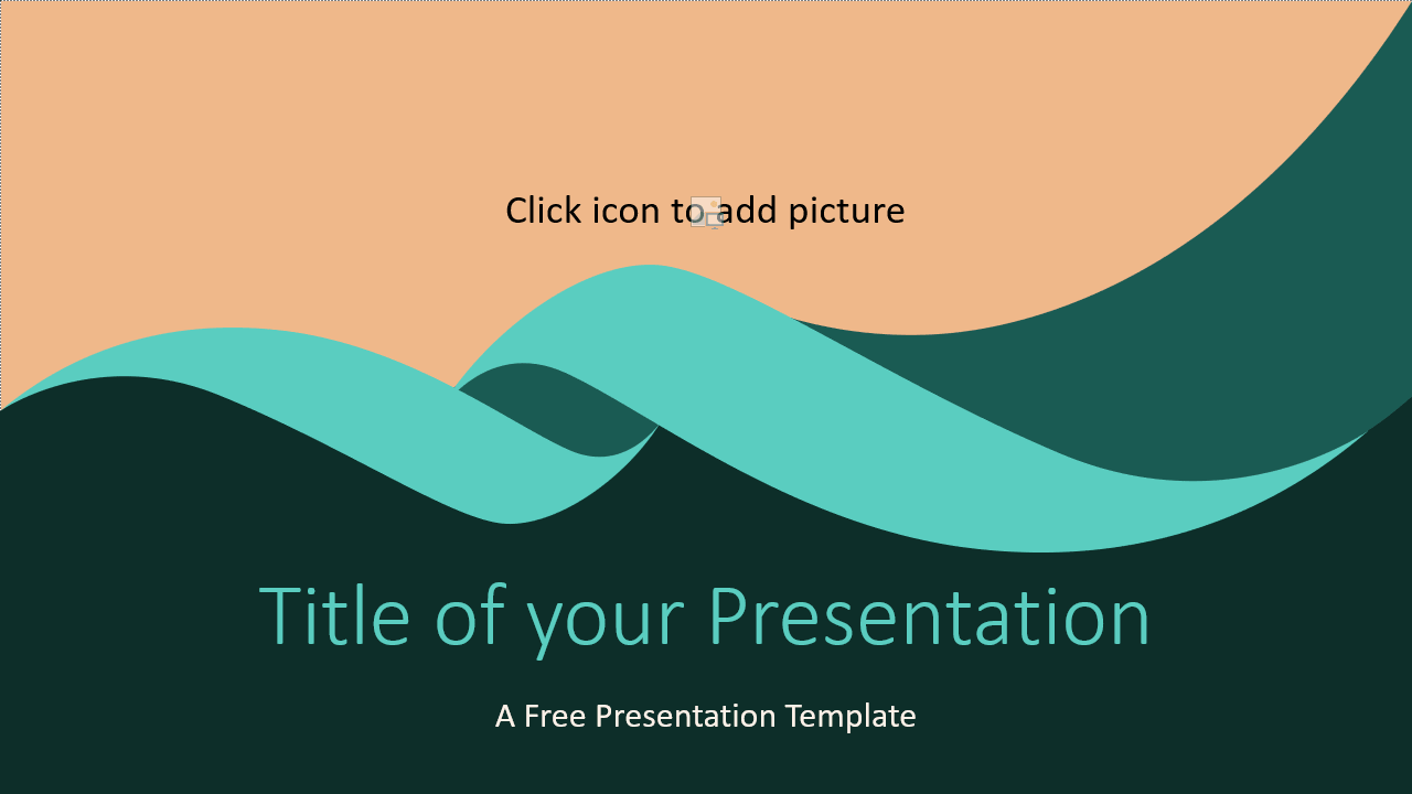 Free Turquoise Swirl Template for Google Slides - Cover Slide