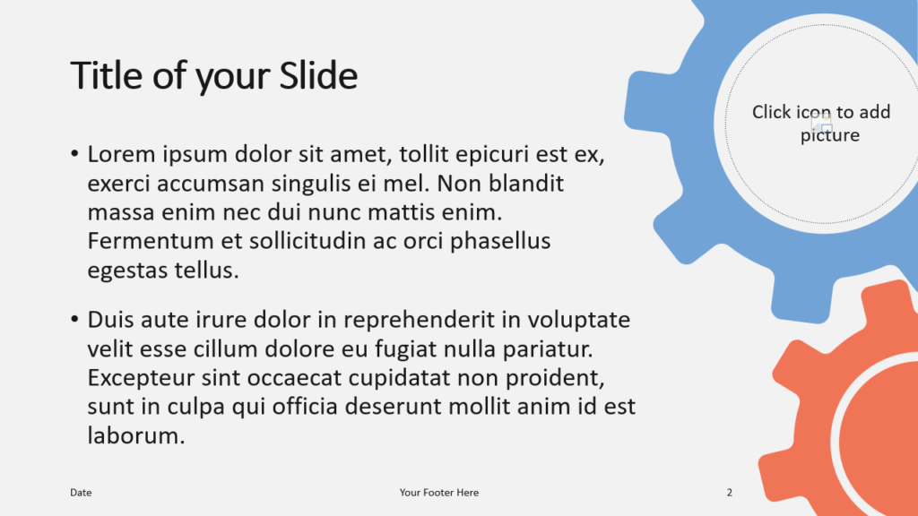 Free Gears Template for Google Slides – Title and Content Slide (Variant 1)