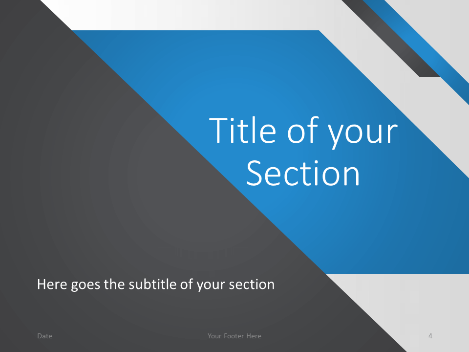 Free Energy Template for PowerPoint – Section Slide (Variant 1)