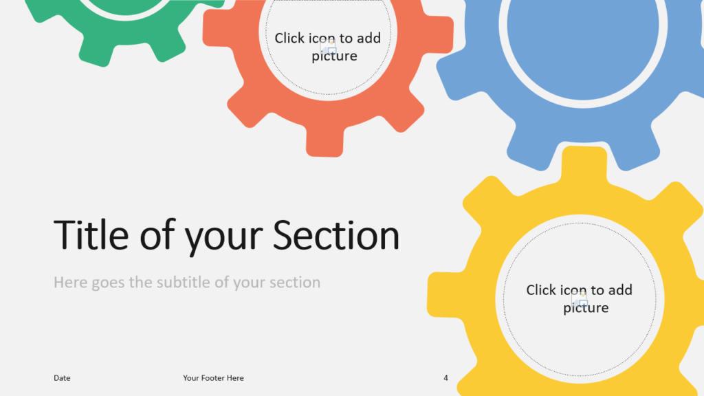 Free Gears Template for Google Slides – Section Slide (Variant 1)