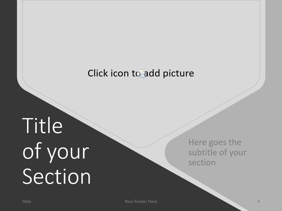 Free Hexagon Template for PowerPoint – Section Slide (Variant 1)