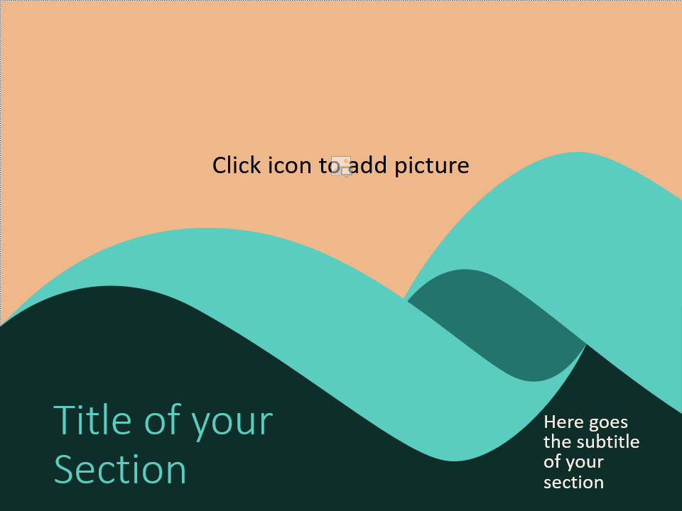 Free Turquoise Swirl Template for PowerPoint – Section Slide (Variant 1)