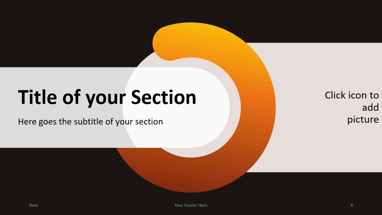 Free Chrono Template for Google Slides – Section Slide (Variant 1)