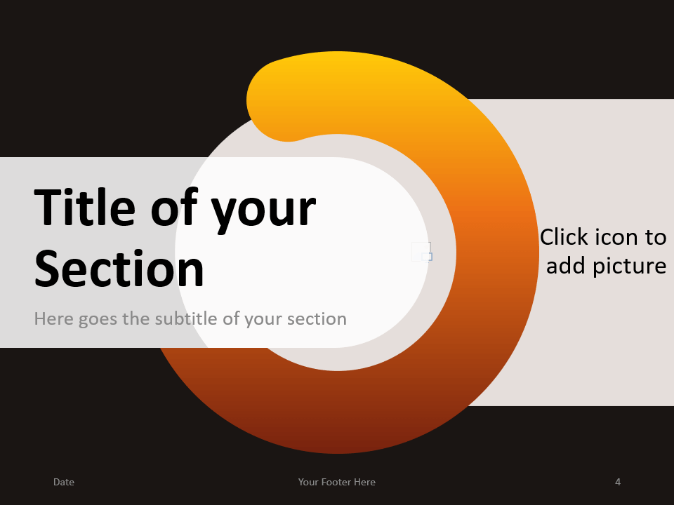 Free Chrono Template for PowerPoint – Section Slide (Variant 1)
