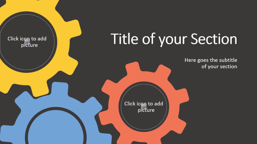 Free Gears Template for Google Slides – Section Slide (Variant 2)