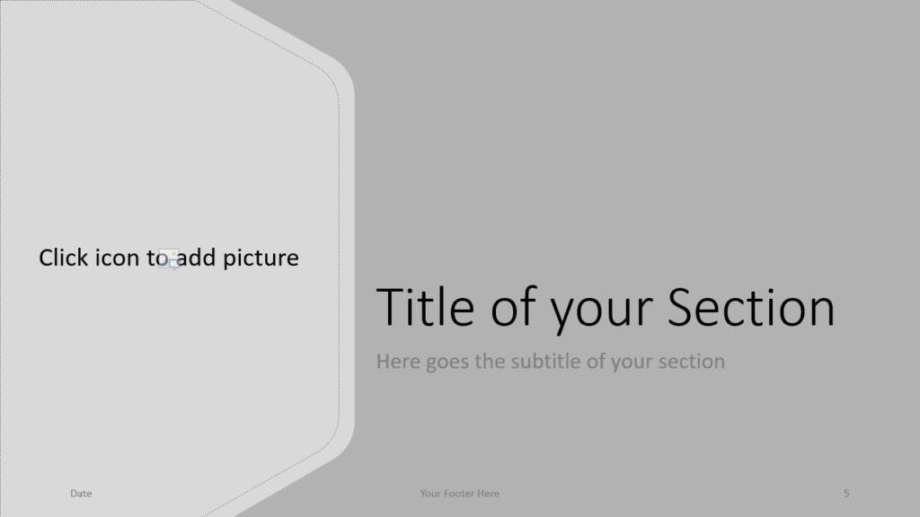 Free Hexagon Template for Google Slides – Section Slide (Variant 2)