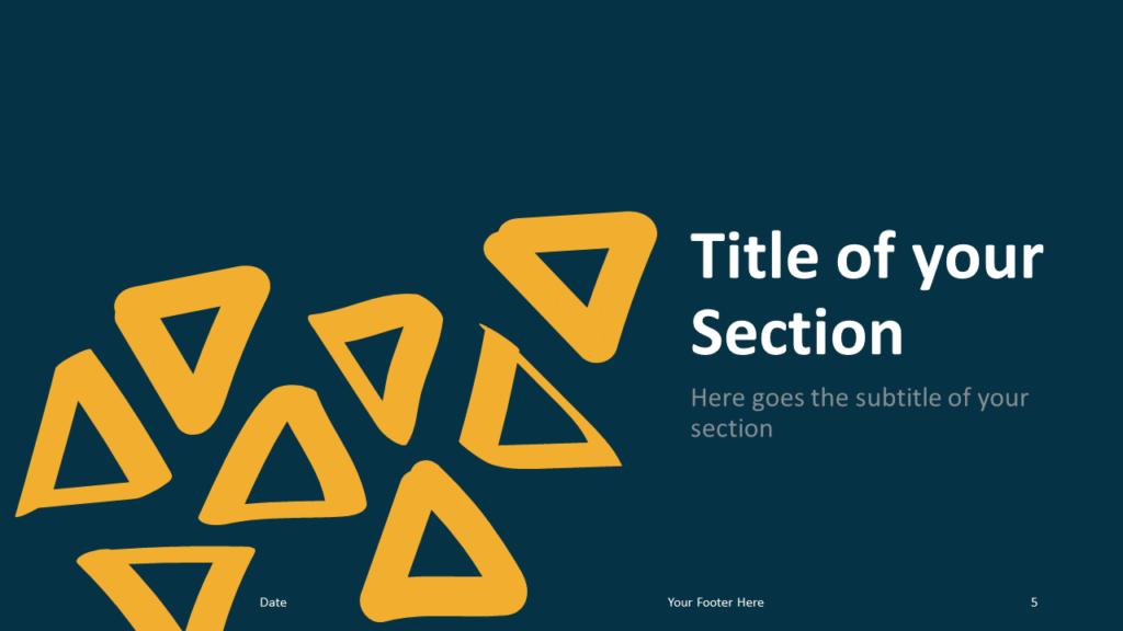 Free Scribble Lines Template for Google Slides – Section Slide (Variant 2)