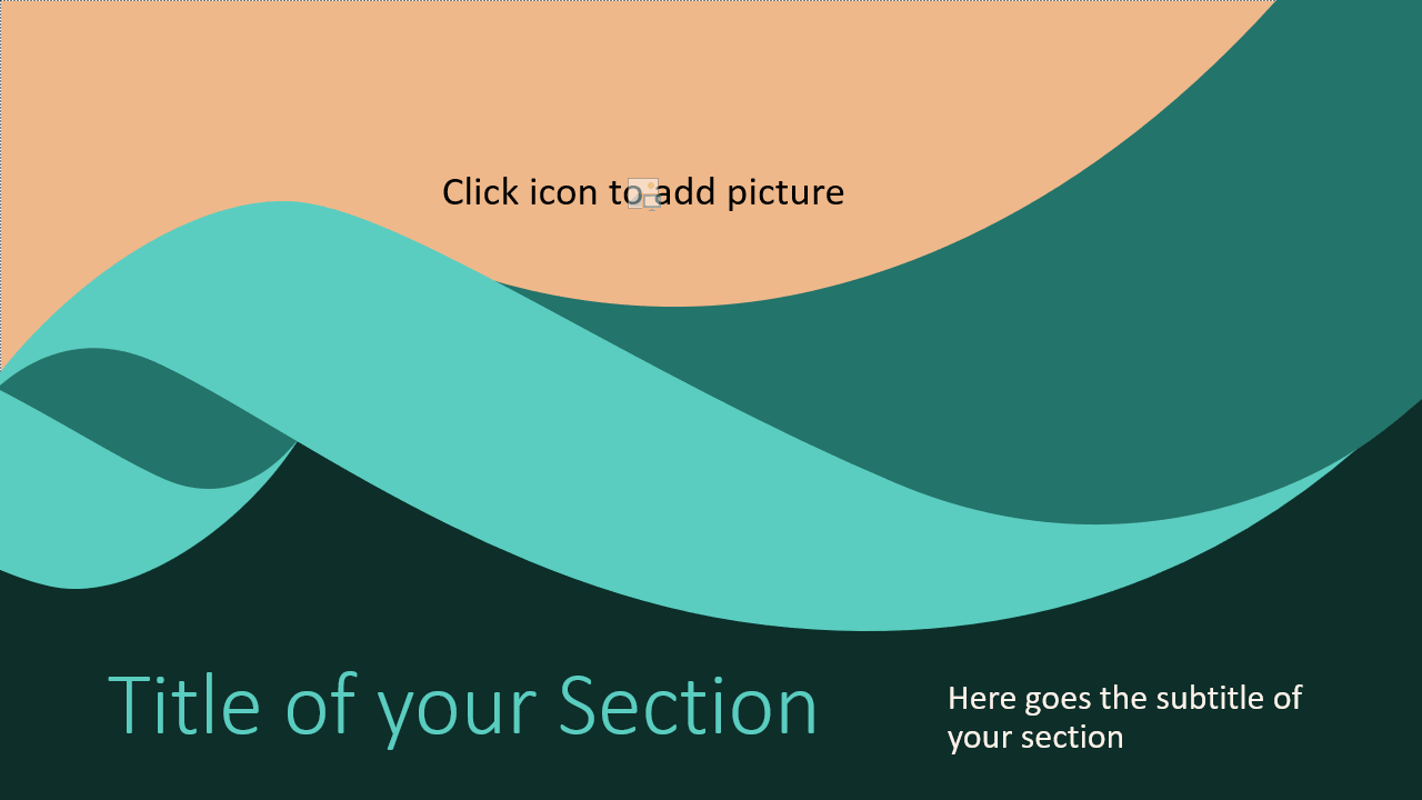 Free Turquoise Swirl Template for Google Slides – Section Slide (Variant 2)