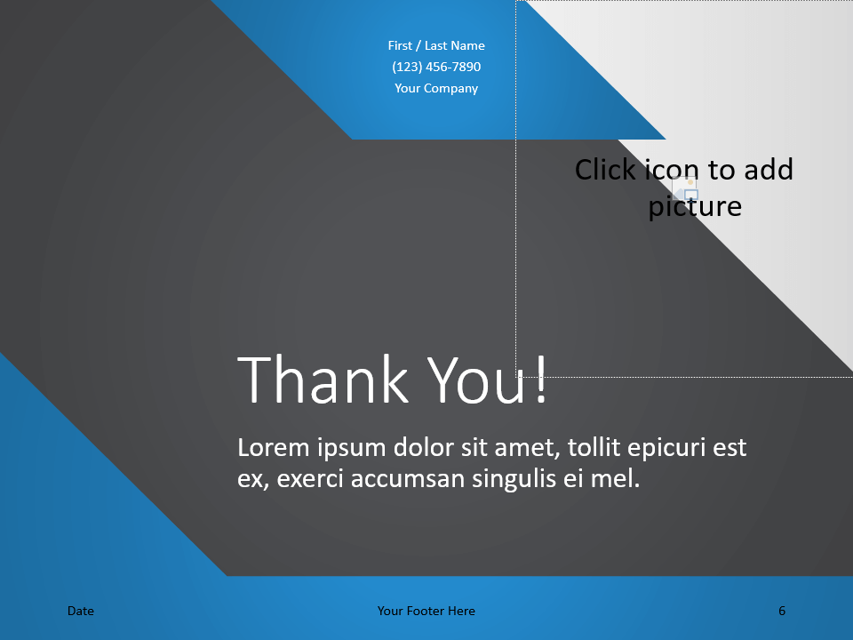 Free Energy Template for PowerPoint - Closing / Thank you
