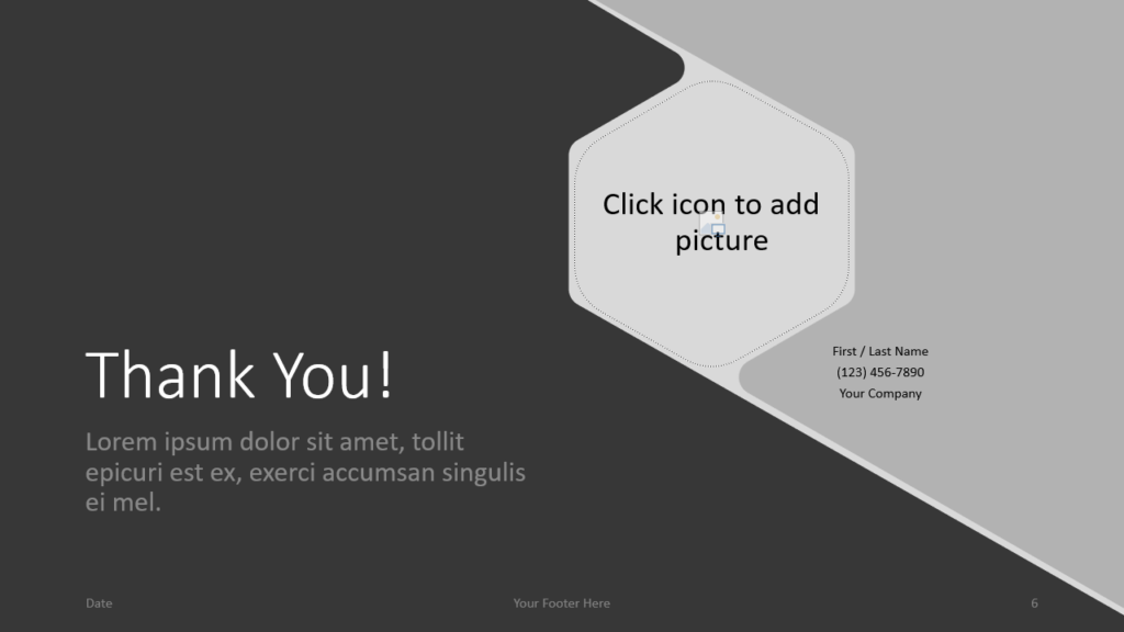 Free Hexagon Template for Google Slides - Closing / Thank you