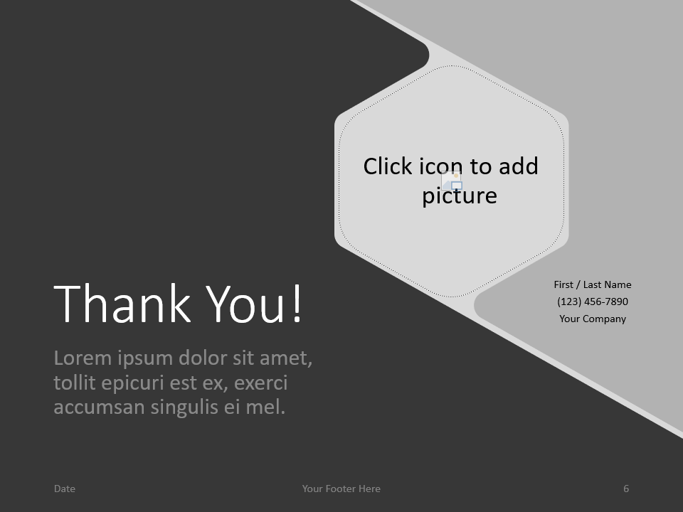 Free Hexagon Template for PowerPoint - Closing / Thank you