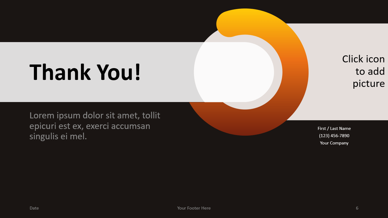 Free Chrono Template for Google Slides - Closing / Thank you