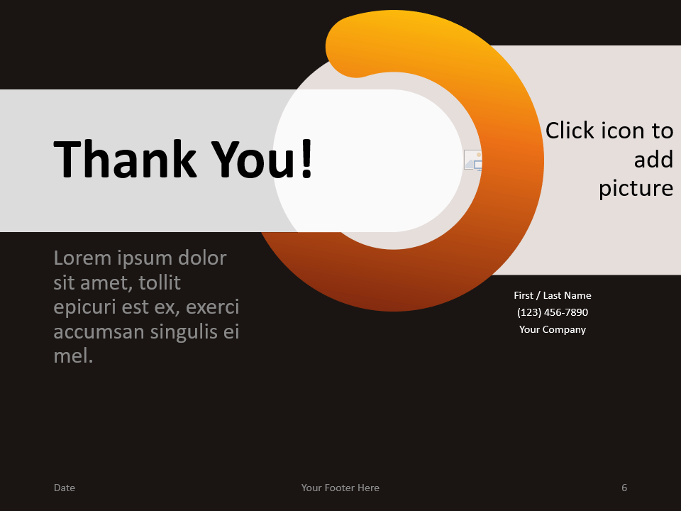 Free Chrono Template for PowerPoint - Closing / Thank you