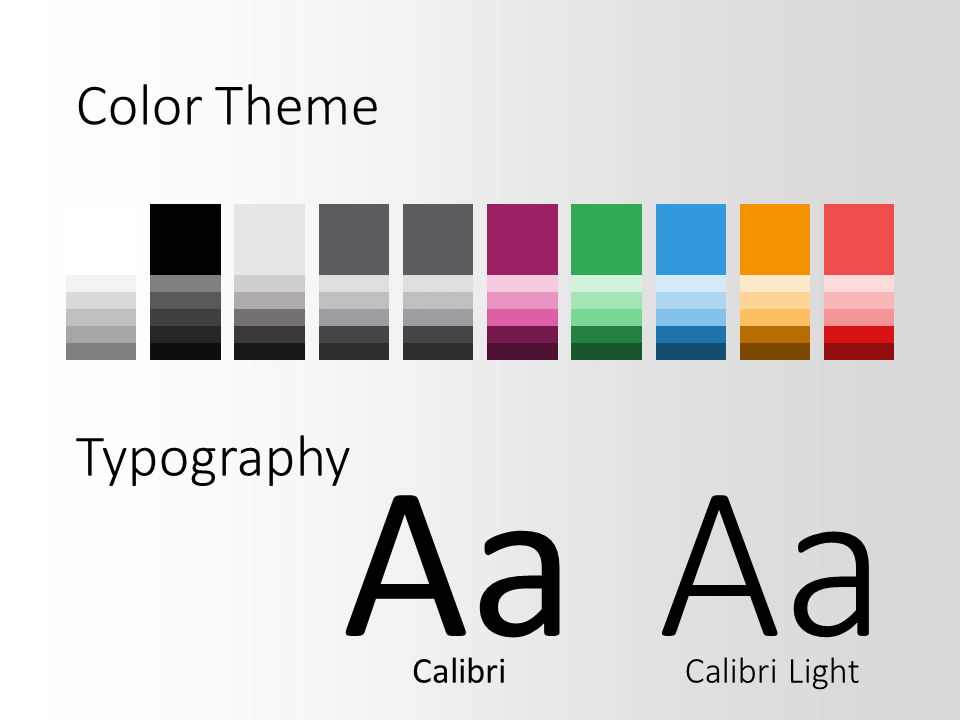 Free Energy Template for PowerPoint – Colors and Fonts