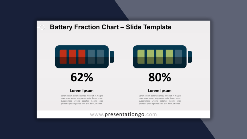 Battery Fraction Chart Template for PowerPoint