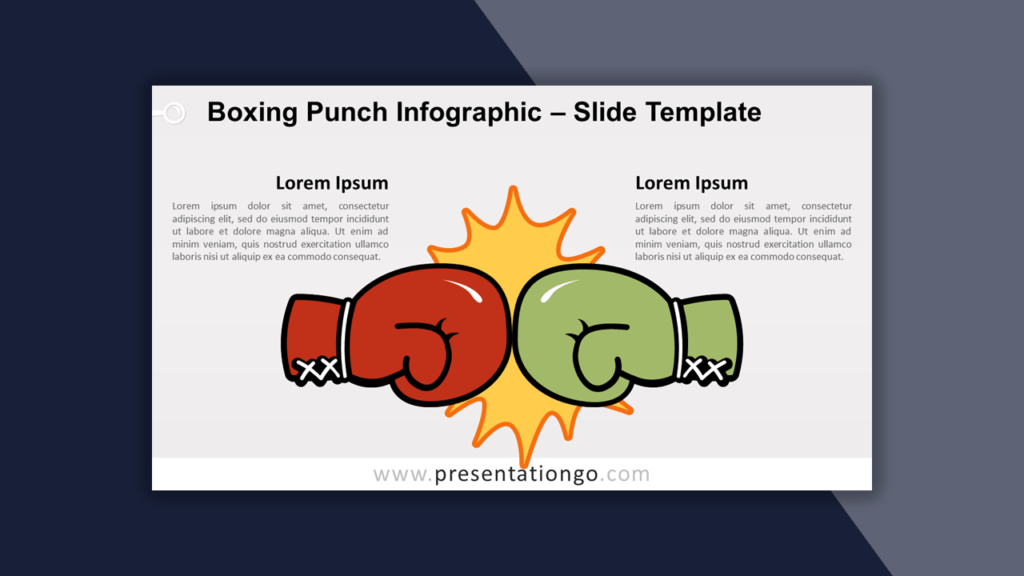 Boxing Punch Infographic Template for PowerPoint