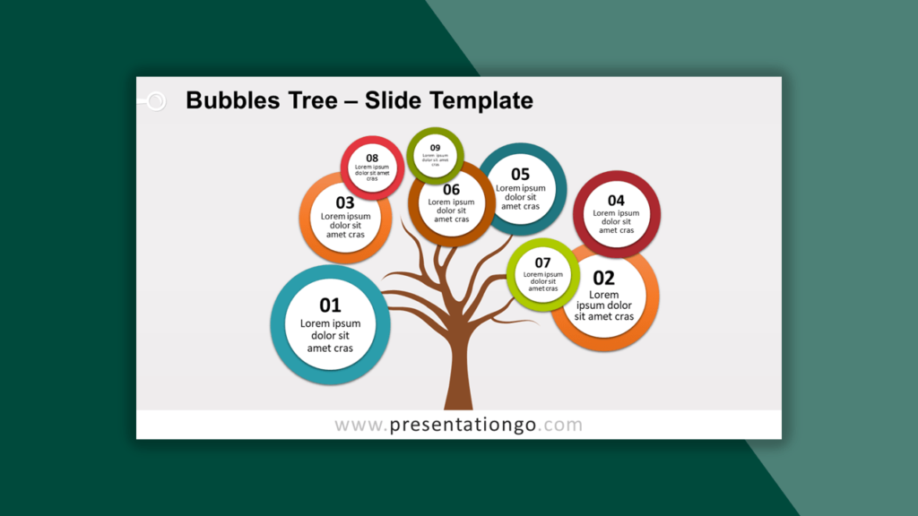 Bubbles Tree Template for PowerPoint