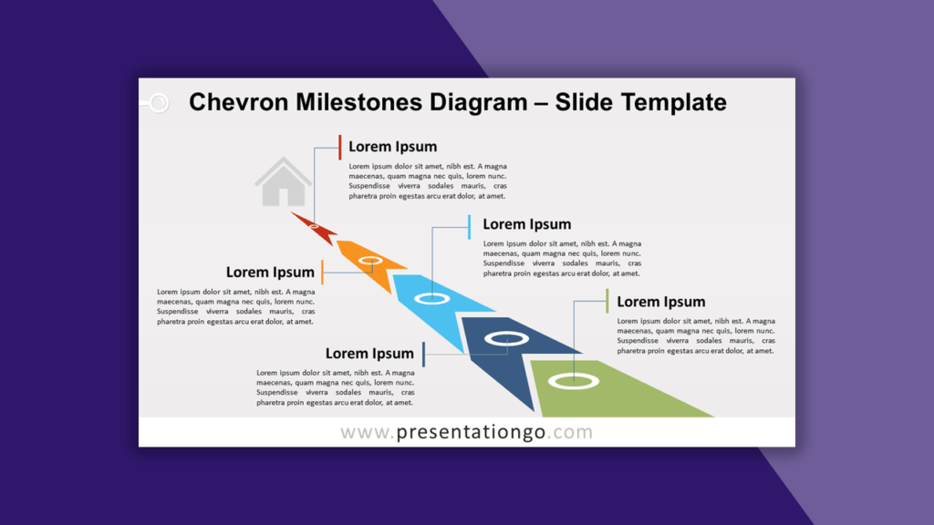 Chevron Milestones Timeline for PowerPoint and Google Slides