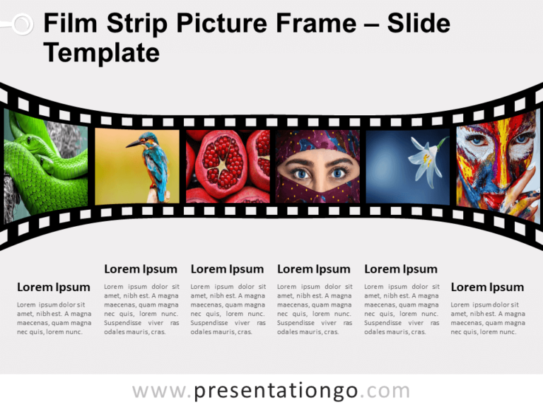 Free Film Strip Picture Frame for PowerPoint