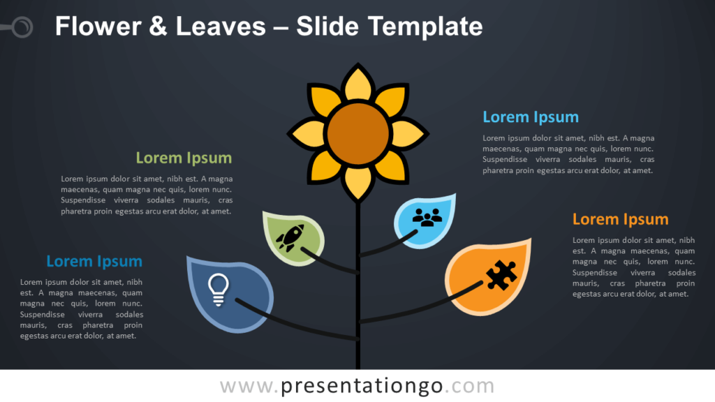 Free Flower & Leaves Infographic for PowerPoint and Google Slides