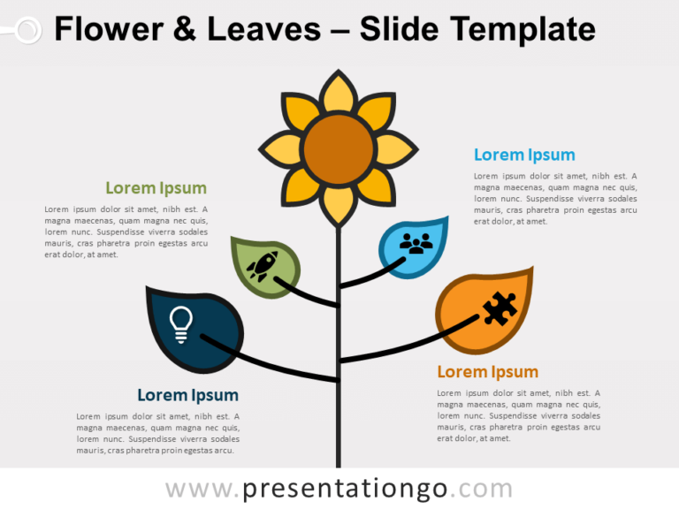 Free Flower & Leaves for PowerPoint