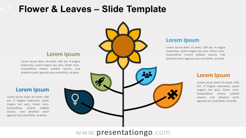 Free Flower & Leaves for PowerPoint and Google Slides