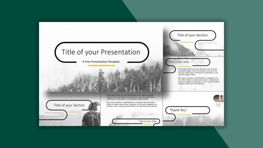 Foggy Forrest Template for PowerPoint