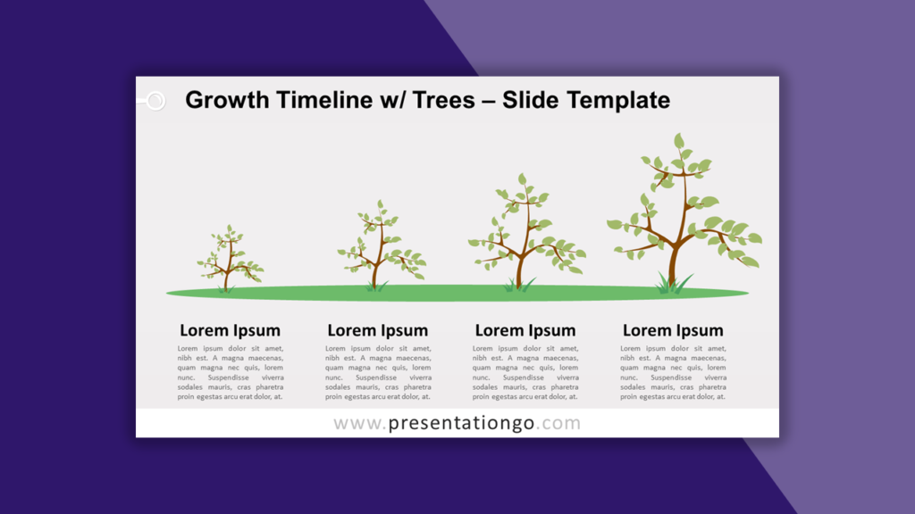 Growth Timeline with Trees for PowerPoint and Google Slides
