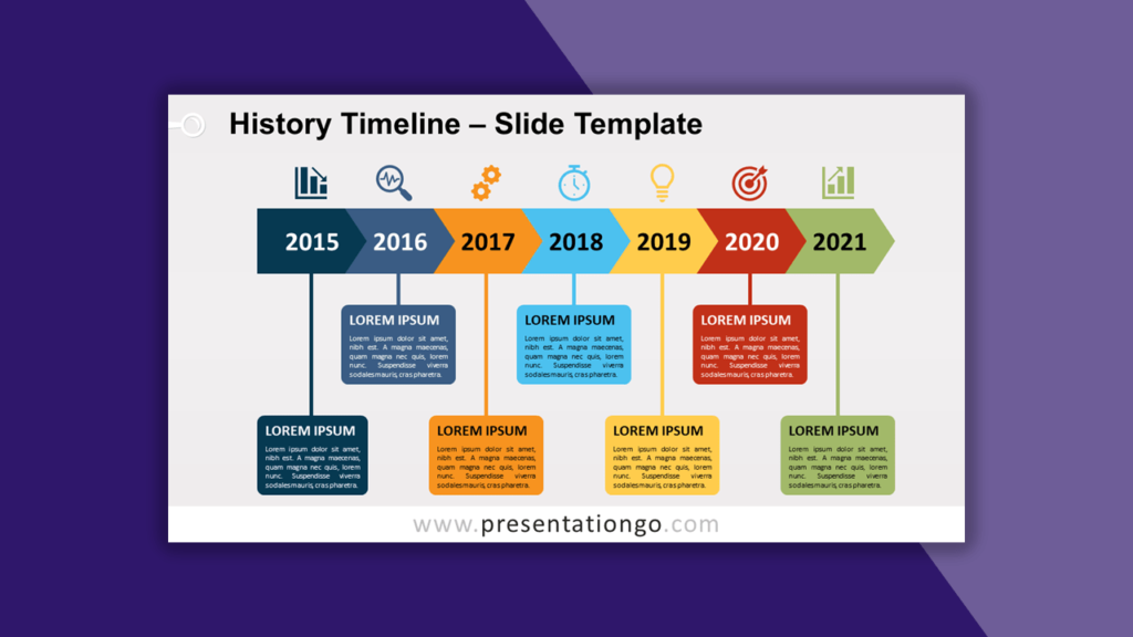 History Timeline for PowerPoint and Google Slides