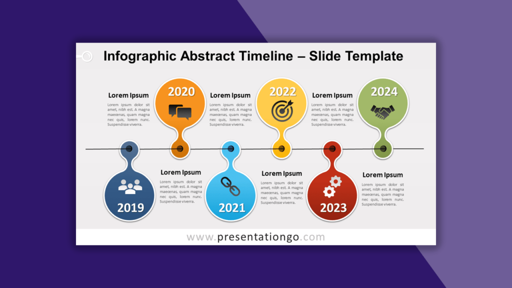 Infographic Abstract Timeline for PowerPoint and Google Slides