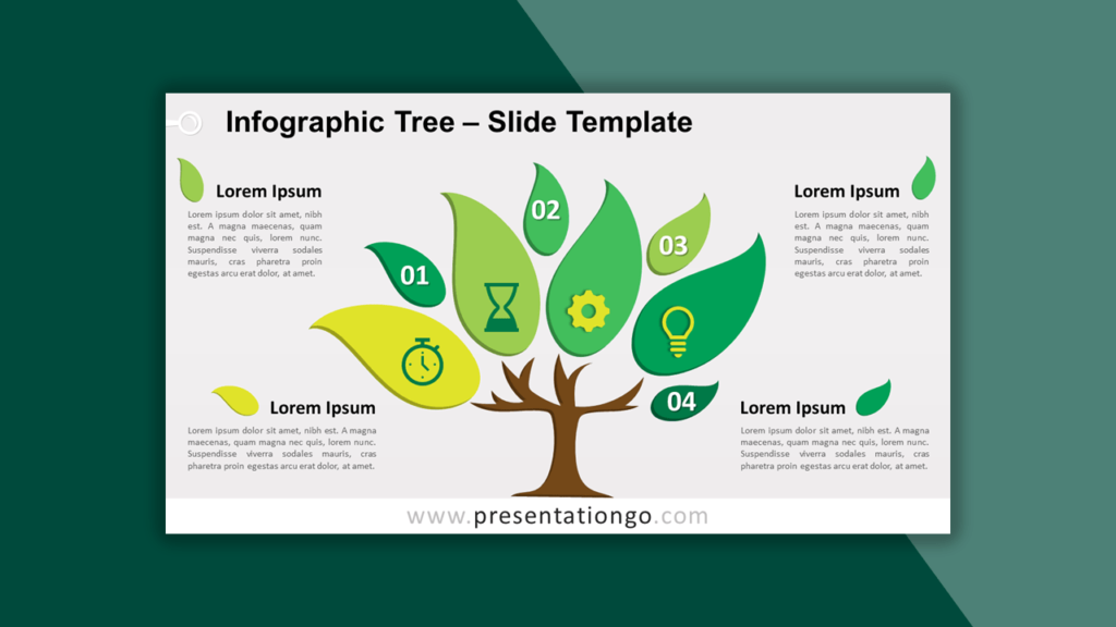 Infographic Tree Template for PowerPoint