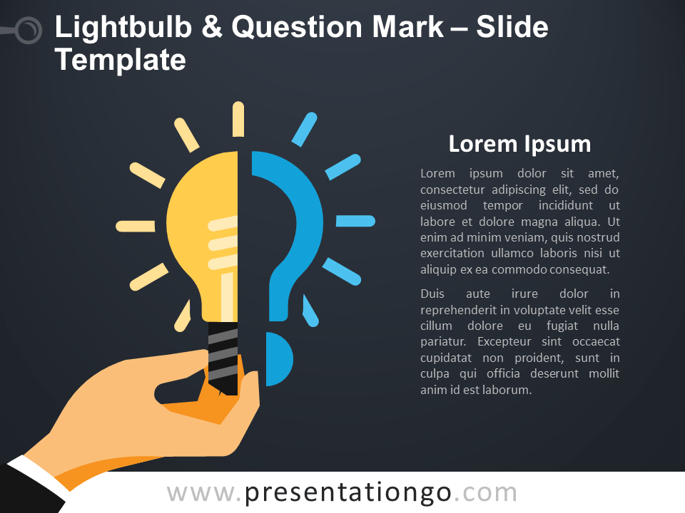 Free Lightbulb & Question Mark Infographic for PowerPoint