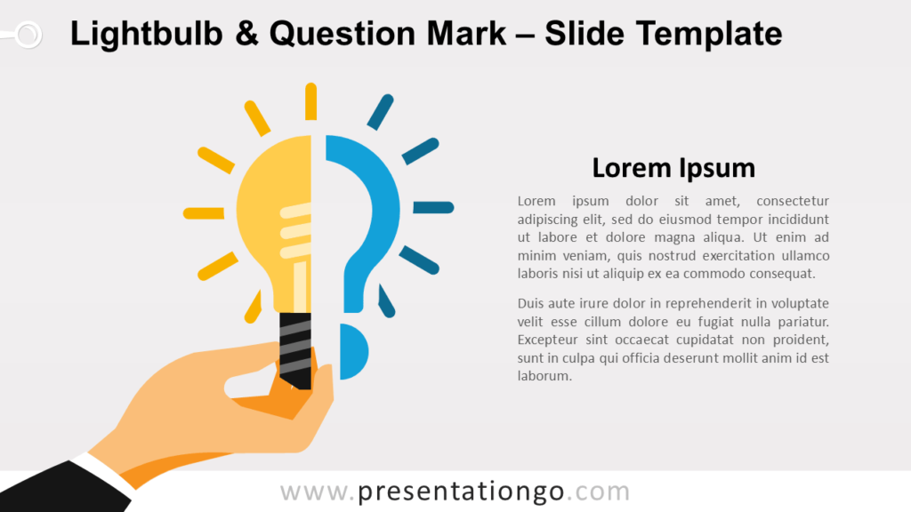Free Lightbulb & Question Mark for PowerPoint and Google Slides