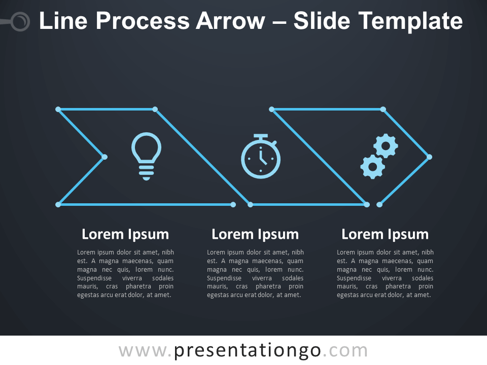 Free Line Process Arrow Diagram for PowerPoint