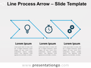 Free Line Process Arrow for PowerPoint