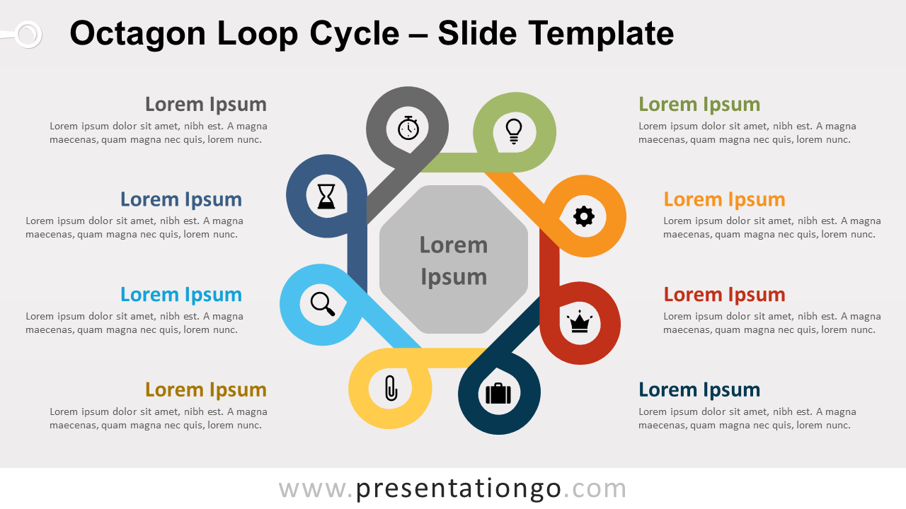 Free Octagon Loop Cycle for PowerPoint and Google Slides