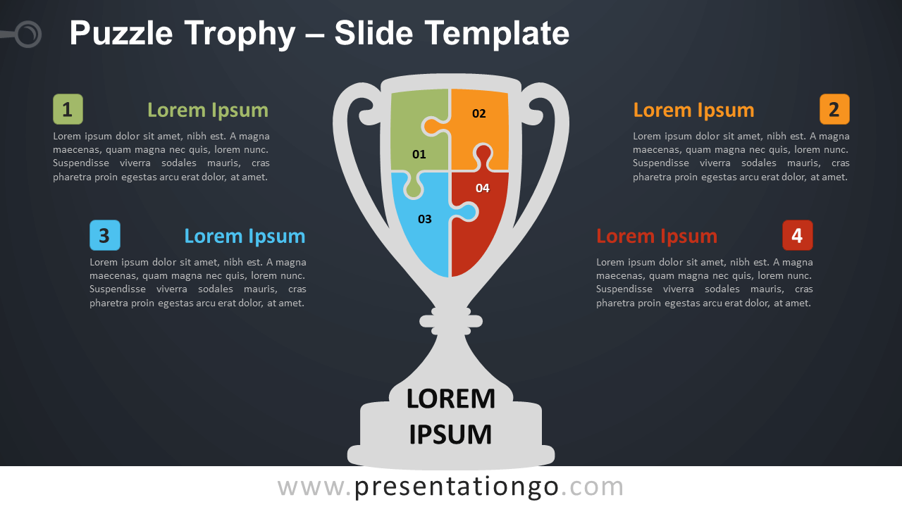 Free Puzzle Trophy Diagram for PowerPoint and Google Slides