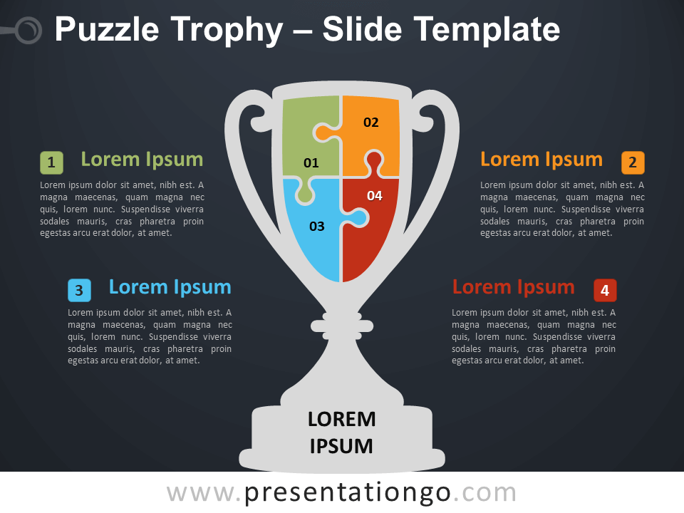 Free Puzzle Trophy Diagram for PowerPoint