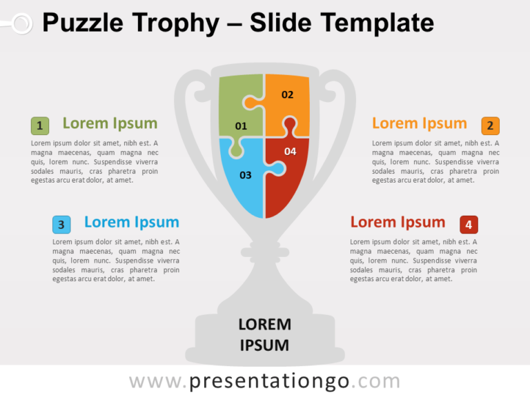 Free Puzzle Trophy for PowerPoint