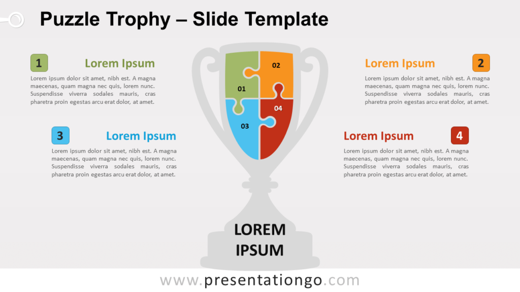 Free Puzzle Trophy for PowerPoint and Google Slides